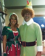 The Elf and Jovie Homemade Costume