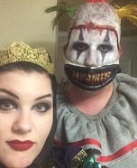 The Evil Queen and Twisty the Clown Homemade Costume
