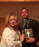 The Exorcist Regan and the Priest Homemade Costume