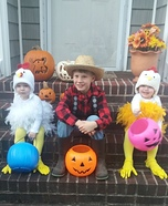 The Farmer and 2 Little Chickens Homemade Costume