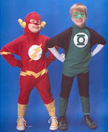 Homemade Flash and Green Lantern Costumes