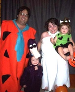 The Flintstone Family Homemade Costume