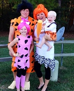 The Flintstones Family Homemade Costume