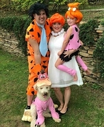 The Flintstones Family Homemade Costume