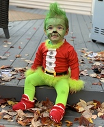 The Grinch Baby Homemade Costume