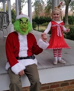 The Grinch and Cindy Lou Homemade Costume