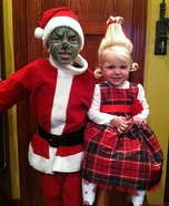 The Grinch and Cindy Lou Who Homemade Costumes