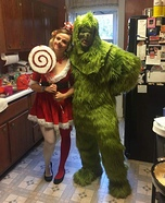 DIY couples costume - The Grinch and Cindy Lou Who Costume
