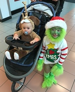 The Grinch and Max Homemade Costume