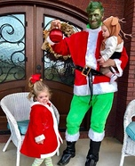 The Grinch, Cindy Lou Who and Max Homemade Costume