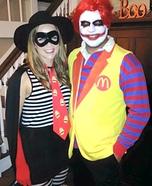 The Hamburglar and Ronnie McDonald Homemade Costume