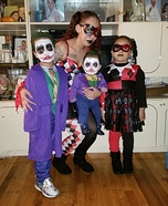 The Harley Quinns and The Jokers Homemade Costume