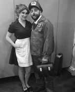 The Honeymooners Ralph and Alice Kramden Homemade Costume