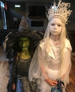 The Ice Queen and Green Witch Homemade Costume