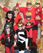 The Incredibles Family Homemade Costume
