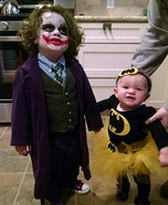 The Joker & Bat Baby Homemade Costume