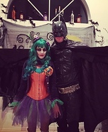 The Lady Joker and Batman Homemade Costume