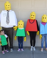 The Lego Family Costumes DIY