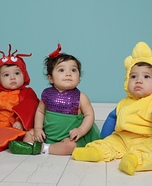 The Little Mermaid and Crew Homemade Costume