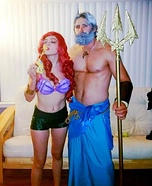The Little Mermaid Ariel and King Triton Homemade Costume