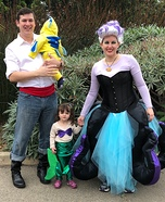 The Little Mermaid - Eric, Ursula, Ariel, and Flounder Homemade Costume