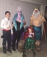 The Little Mermaid Family Homemade Costume
