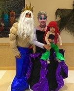 The Little Mermaid Family Costume Idea