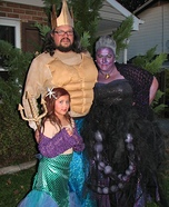 The Little Mermaid Family Homemade Costume