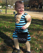 Cutest Halloween costumes for babies - The Littlest Strongman Halloween Costume