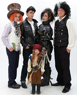 Fun family Halloween costume ideas - The Many Faces of Johnny Depp Family Costume