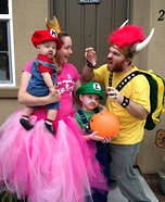 The Mario Brothers Family Costume