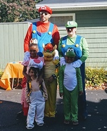The Mario Brothers Family Homemade Costume