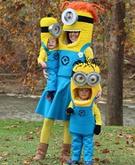 The Minion Family Homemade Costume