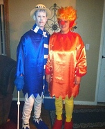 Homemade Heat and Snow Miser Costumes