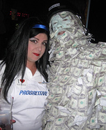 The Money Man and Flo from Geico Homemade Costume