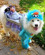The Monster Under the Bed Dog Costume