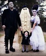 The Munster's have their very own Wednesday Addams Homemade Costume