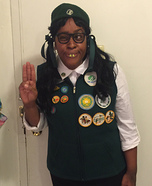 The number 1 Girl Scout Homemade Costume