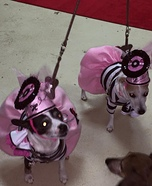 The Pink Ladies Dogs Homemade Costume