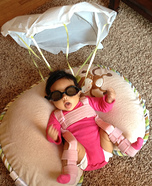 The Pink Skydiver Baby Costume
