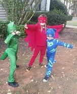 The PJ Masks Catboy, Gekko, and Owlette Homemade Costume