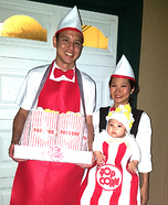 The Popcorn Family Homemade Costume