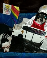 The Pope and Kim Davis Dogs Homemade Costume