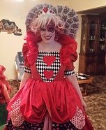 The Queen of Hearts Homemade Costume