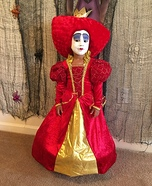 The Queen of Hearts Costume for Girls