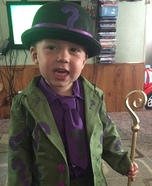 The Riddler Boy Homemade Costume