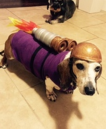 Creative costume ideas for dogs: The Rocket Dog Costume