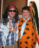 The Rollingstone and Fred Flintstone Homemade Costume
