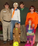 The Scooby Doo Crew Homemade Costume