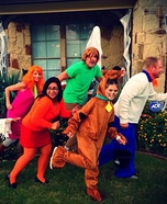 The Scooby Gang Family Homemade Costume